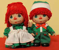 christmas holiday raggedy ann u0026 andy baby dolls by precious moments