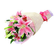 bouquet of lilies baby pink lilies bouquet