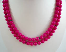 pink beads necklace images Etsy your place to buy and sell all things handmade jpg