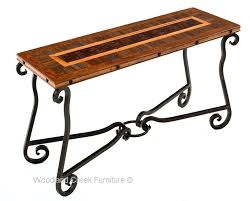 western sofa table southwestern console ranch table