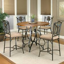lowes table l set shop sunset trading vail rustic medium oak dining set with round