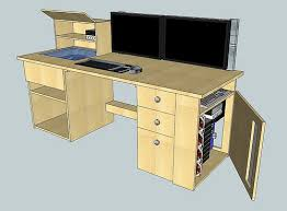 Gaming Desk Plans Gaming Computer Desk Plans Gaming Desks Pinterest Gaming