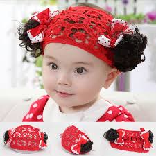 toddler hair accessories wholesale 2017 new baby wig headband flower hair band toddler