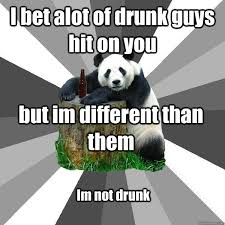 Pick Up Line Panda Meme - i bet alot of drunk guys hit on you but im different than them im