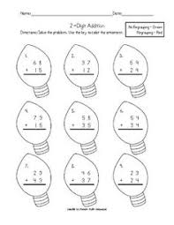 christmas double digit addition worksheet christmas math