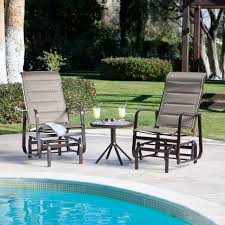Padded Lawn Chairs Coral Coast Del Rey Padded Sling Outdoor Glider Chair Bronze