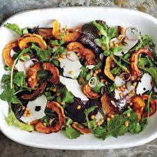thanksgiving salad roasted acorn and delicata squash salad recipe epicurious com
