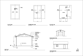 1 2 3 4 car garage blueprints
