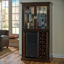 Bar Hutch Firenze Wine And Spirits Armoire Bar With 32 Bottle Touchscreen