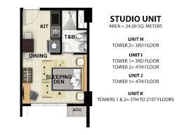 floor plan studio type index of davao condo one lakeshore drive