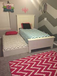 ana white twin farmhouse bed with trundle diy projects