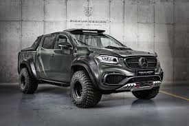 mercedes pick up mercedes x class gets pickup design body kit and carlex luxury