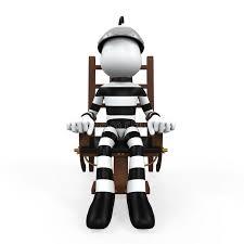 chaise lectrique illustration d un prisonnier dans une chaise électrique illustration