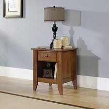 Curved Nightstand End Table Sauder Shoal Creek 1 Drawer Oiled Oak Nightstand 410412 The Home