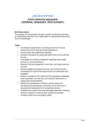 Restaurant General Manager Job Description Resume by How To Get A Restaurant Job Weekendwaiter Waitress Resume Bar