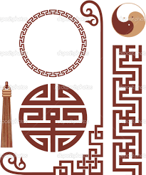 oriental clipart frame pencil and in color oriental clipart frame