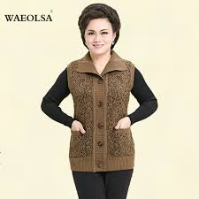 s wool sweaters autumn s knitted vest brown woolen