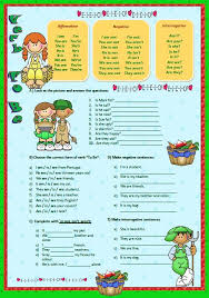 to be to be elementary worksheet ii