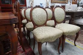 Victorian Upholstered Chair Set Of 6 Victorian Upholstered Dining Chairs French Antiques