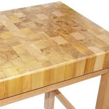 billot de cuisine table billot de boucher 80x60 cm tom press