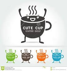 cute cup designs coffee cute cup logo vector stock vector image 70123271