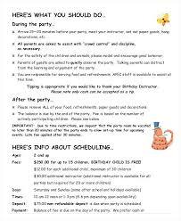 party program template sle event program booklet sle birthday party event program