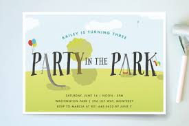 birthday party invitations party in the park children s birthday party invita minted