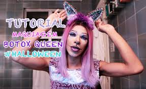 tutorial maquiagem drag queen cat alice halloween botox queen