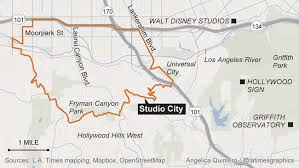 studio city map an industry town that walks on the mild side la times