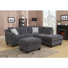 odessa waffle suede reversible sectional sofa with ottoman free