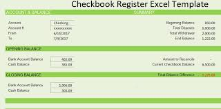 checkbook register for excel checkbook register template free spreadsheettemple