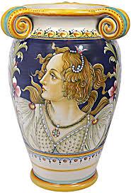 Italian Vase Deruta Italian Ceramic Vase