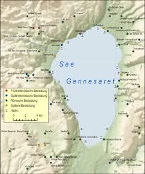 Gennesaret Map Karten Aller Drei Wichtigen Deutschsprachigen Bibelausgaben Unter