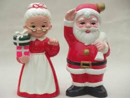 vintage inarco ceramic decorations large santa mrs