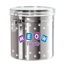oggi kitchen canisters amazon com oggi airtight stainless steel 130 ounce pet treat
