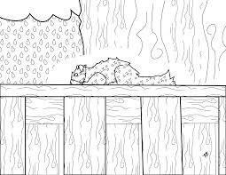 free squirrel on a fence coloring page kristinbell org