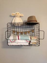 Baby Storage Baskets Harrison U0027s Geometric Nursery Nursery Storage Wire Basket And