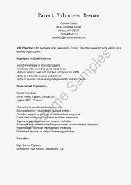 volunteer resume sample resume for study