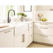 home depot kitchen cabinet hardware pulls amerock mulino 5 1 16 in 128 mm center to center silver