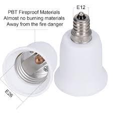 Outdoor Light Bulb Socket Adapter by Jackyled 3 Pack E12 To E26 E27 Adapter Chandelier Light Socket E12