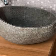 pas japonais en pierre naturelle lave mains de wc à poser en galet de rivière naturel rond d