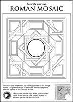printable roman mosaic coloring pages murderthestout