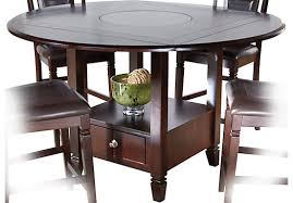Tall Round Dining Table Creditrestoreus - 60 inch round dining table with lazy susan