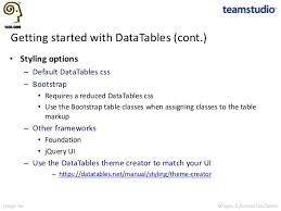 Bootstrap Data Table Xpages And Jquery Datatables Simplifying View Creation While Maximiz U2026