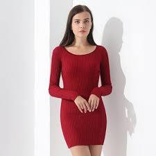 maroon sweater dress buy causal sweater dress pullovers slim sleeve