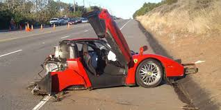 laferrari crash man smashes ferrari just 5 minutes after driving away from the