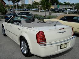 2008 chrysler 300 white convertible in florida rear jpg