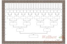 blank family tree template 6 generations printable empty to fill