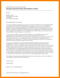 Sample Fundraising Solicitation Letter by 8 Solicitation Letter Format Appeal Leter
