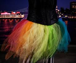 Halloween Tulle Fabric Rainbow Tutu 8 Steps With Pictures